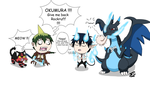Blue Exorcist-PKMN - Not again! by JackFrostOverland