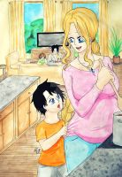 [AcexElisabeth] Family ~Waiting for dinner~ by AyoraPics