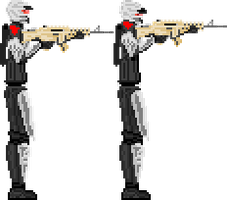 Pixel Art: RK Enforcer with AS-5 Rifle by Arsanthania