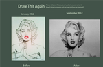 Draw This Again: Marilyn Monroe by carlosvelasquezart