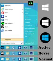 Windows 8.1 Start Orb New look by MRphotoshopIT