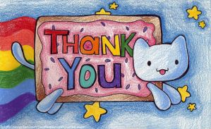 Thank You Card: Nyan Cat. by k4it0u