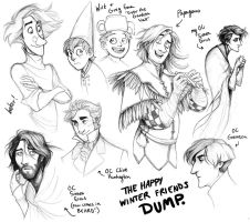 The Happy Winter Friends Dump. by squonkhunter