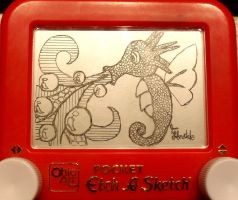Horsea etch a sketch by pikajane