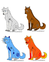 Four Wolves by StoryMaker91