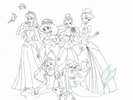 disney's princesses by JELawrence