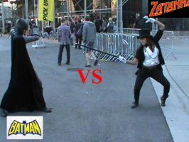 Batman Vs. Zatanna by LittleLaraCroft