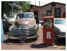 Route 66 garage by WALKING-GIRL
