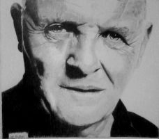anthony hopkins by gypsytoast