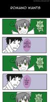 Romano Wants A Pet by natersal