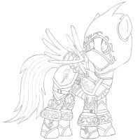 Sketch - Shadowstalker Rainbow Dash by Starbolt-81