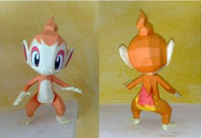 Chimchar papercraft by LordBruco