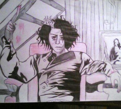 inktober#3 sweeny todd  by GameNot0ver