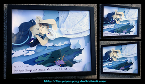 Custom Spirited Away Shadowbox by The-Paper-Pony