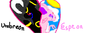 Umbreon and espeon~i miss you by noe9umbreon
