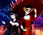 +.:Lady Vampire and Miss Sugar Skull:.+ by razamatzu