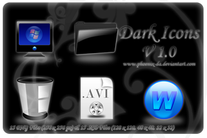 Dark Icons Set by Phoenix DA Iconos para Windows XP