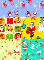 Beautiful collection Pattern santa for your creati by Gala3d