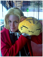 Edward Elric and the kitten by Kozekito