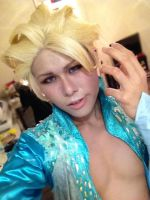 Genderbend Elsa Makeup Test by keruuu