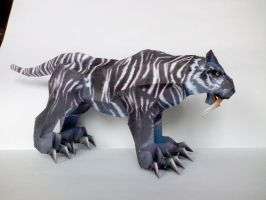 Tiger from game WoW papercraft by Weirda208