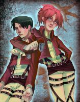 Levi + Hanji by Limelight-Night