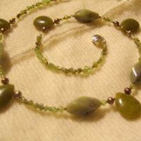 SOLD- Peridot Necklace by AstralArts