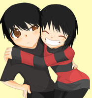 Me and my Twin Bro. by Berii-Chann