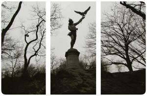 The Falconer, Central Park by wflead