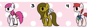 100 Theme Pony Adopts 1-5 ~CLOSED~ by AmyLovesPenguins