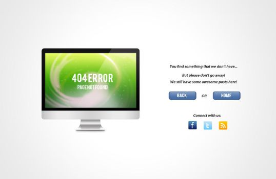 Free 404 Error Page - LCD by crazygenk