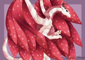Dragon Alado Rosa by TearlessDreams0fl0ve