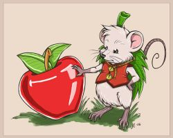 Mr. Mouse and his apple by anla
