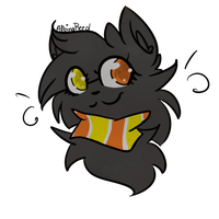.: HS Candy Corn Cat :. by AlbinaReed