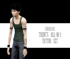 sims 4 trent tattoo set by zonick2kc