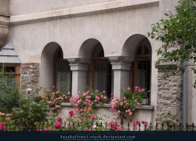 Window Arches with Flowers by kuschelirmel-stock