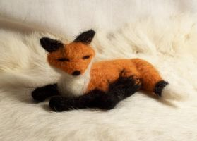 Needle Felted: Fox by randomproxy