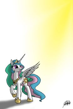 Hopeful Celestia by SilverwolvesForever