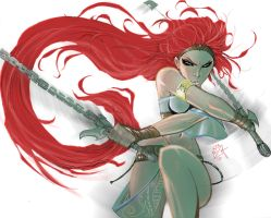 HEAVENLY SWORD'S NARIKO by AlexAmezcua