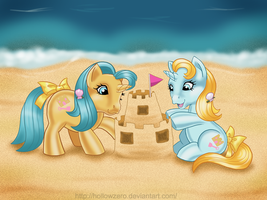 Day 17 - Sandcastle and Shovels by hollowzero