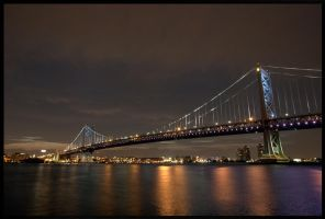 The Ben Franklin Bridge by nanshant