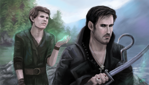 Captain Hook and Peter Pan - Once Upon A Time by DreamyArtistRoxy3