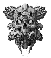 Sketch CyberSkull2 by masacrar