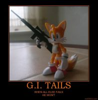 GI Tails Motivational Poster by Dragonrider1227
