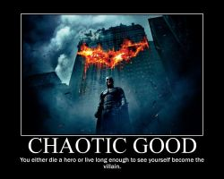 Chaotic Good Batman by 4thehorde