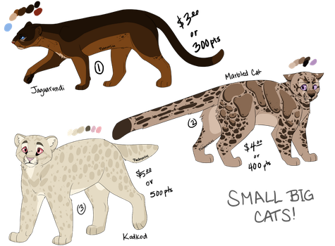 Small Big Cat Adopts - OPEN by Pedropoliss