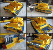 Big Yella LEGO Tank 2 by Frohickey