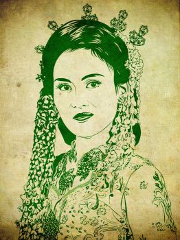 Javanese Wedding Lineart Vector by ndop