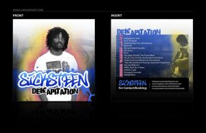 Sicksteen CD Cover and Insert by jiggly