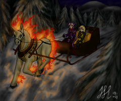 CP: Riding through the wintery forest by Bulbiekins